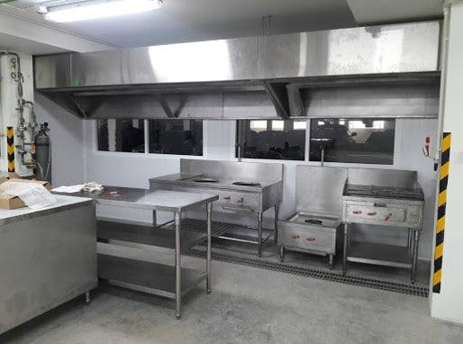 Kitchen Room Hood Installation